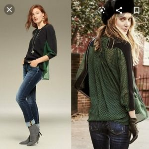 Cabi black and green get together sweater small